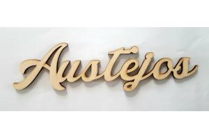 Wooden word personalized 6 cm. H GIFTN-6
