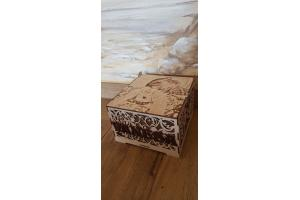 Krikštadėžė prisiminimų skrynelė dėžutė 20x18 cm. su nuotrauka