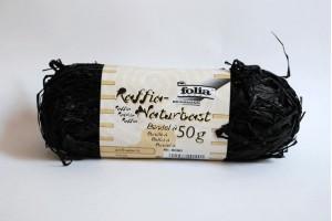 Juostelė dekoravimui rafija juoda F9090