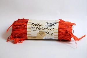 Juostelė dekoravimui rafija oranžinė F9040