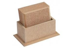 Dėžutė MDF su padėkliukais 6vnt. 1181
