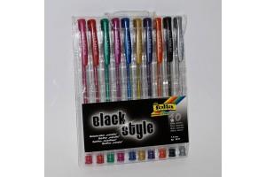 Gelinių metalizuotų rašiklių rinkinys 10 vnt. F1911