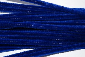 Pūkuota viela 50 cm. 10 vnt. Mėlyna F77836