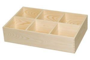 Dėžutė 6 skyriai atvira 1397