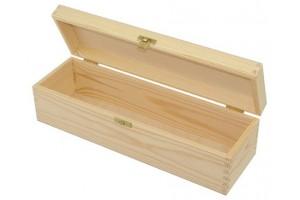 Medinė vyno dėžė su užraktu 1042