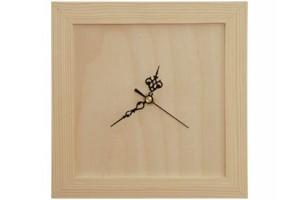 Laikrodis kvadratinis (juodos rodyklės) 1092