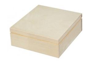 Medinė dėžutė kvadratinė 1463
