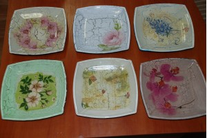 Courses - glass decoration (Reverse decoupage on glass)
