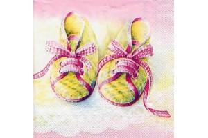 """Servetėlė dekupažui """"bateliai rožiniai"""" 9-14"""