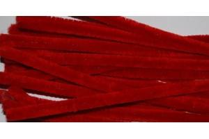 Pūkuota viela 50 cm. 10 vnt. Raudona F77820