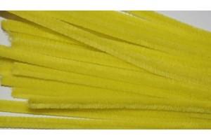 Pūkuota viela 50 cm. 10 vnt. Geltona F77812
