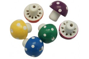 Wooden beads, mushroom, 18x20 mm., The color is chosen, LS162