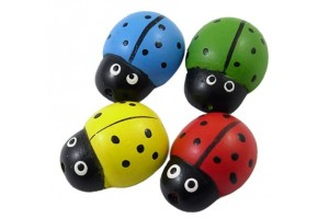 Wooden ladybird, the color is chosen, 28x22x11 mm., LS171