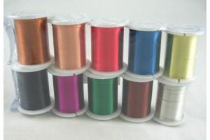 Juvelyrinė viela, ritinys, spalva pasirenkama, 0.3 mm, 10 metrų, LS214