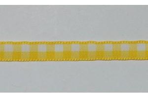 Juostelė matuojama, languota: geltona - balta,  storis - 7 mm., 1 metras,  LS177