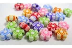 Acrylic bead, flower, 6 mm, color is choicen, LS178