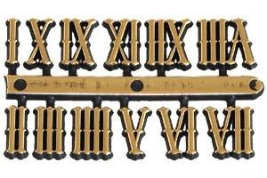 Skaičiai laikrodžiui romėniški 15 mm. auksiniai 1078