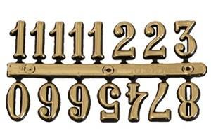 Skaičiai laikrodžiui arabiški 15 mm. auksiniai 1079