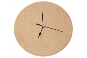 MDF round clock with arrows and mechanism of 1538