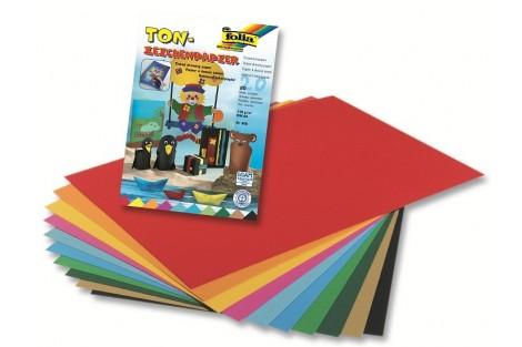 Spalvoto popieriaus rinkinys, A4, 20 lapų, 10 spalvų, F600