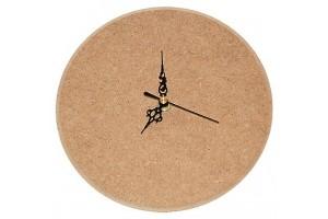 Laikrodis apvalus MDF mažas su rodyklėmis ir mechanizmu 1573
