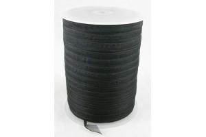 Juostelė organza, juoda, matuojama, 1 m., 6 mm., LS183