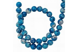 Natural stone, deep sky blue, 8 mm., 1 pcs.,  LS410