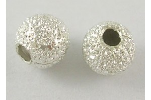 Beads, silver color, 4 mm., LS456