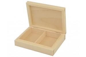 Medinė dėžutė dviejų skyrių 1105