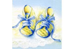 """Servetėlė dekupažui """"bateliai mėlyni""""  2-1"""