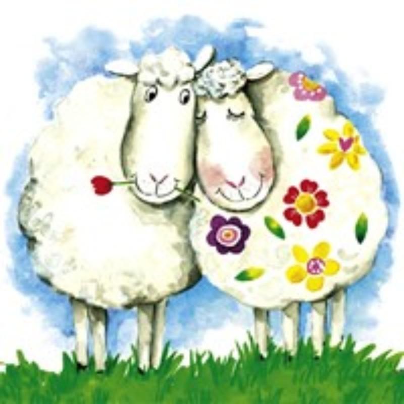 Овцы на открытках