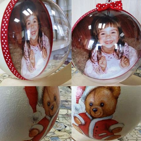 Kalėdinis žaisliukas su nuotrauka