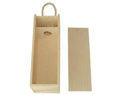 Medinė dėžutė vynui skirta reklamai, dekoravimui, lazeriniam graviravimui, dekupažui ir pan.