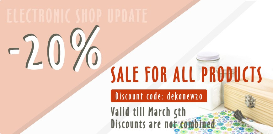 Electronic shop update discount